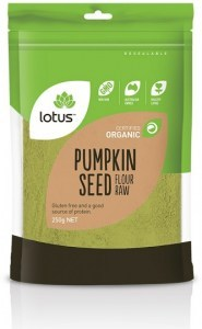 Lotus Organic Pumpkin Seed Flour Raw 250g