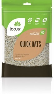 Lotus Organic Quick Oats Rolled 500gm