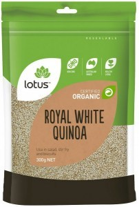Lotus Organic White Quinoa Grain 300gm