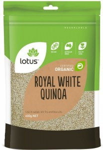 Lotus Organic White Quinoa Grain 600gm