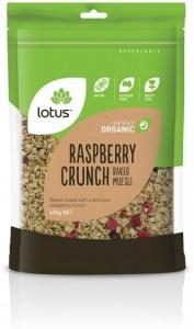Lotus Organic Raspberry Crunch Baked Muesli Granola 400g