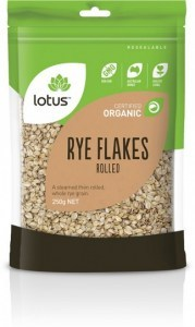 Lotus Organic Rye Flakes  250gm