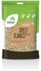 Lotus Organic Rolled Spelt Flakes 250g