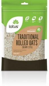 Lotus Organic Traditional Rolled Oats Creamy Style 500gm