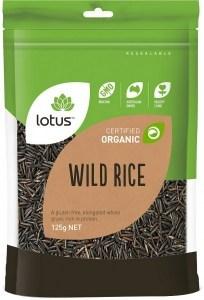 Lotus Organic Wild Rice 125g