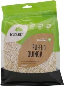 Lotus Quinoa Puffed Organic G/F 160g