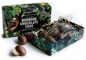 Loving Earth Boobook Chocolate Eggs 100g