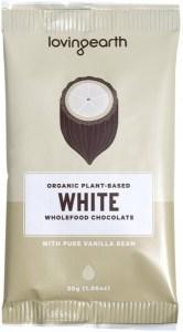 Loving Earth Organic White Chocolate Hearts 16 x 30g