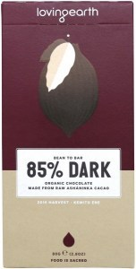 Loving Earth Raw Organic 85% Dark Chocolate 80g