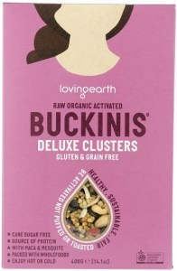 Loving Earth Raw Organic Buckinis - Deluxe Clusters  400g