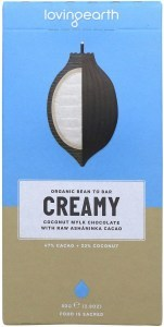 Loving Earth Raw Organic Creamy Coconut Mylk Chocolate 80g
