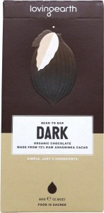 Loving Earth Raw Organic Dark Chocolate 80g