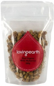 Loving Earth Raw Organic White Mulberries 200g