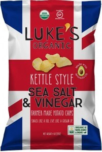 Lukes Organic Kettle Salt & Vinegar Chips 113g