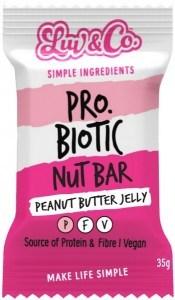 Luv & Co Probiotic Nut Bar Peanut Butter Jelly 35g JUL20