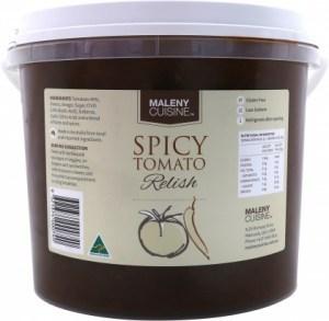 Maleny Cuisine Spicy Tomato Relish 2.2L