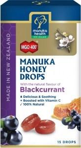 Manuka Health MGO 400+ Manuka Honey Drops Blackcurrant Lozenges 15s