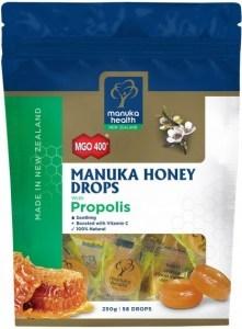 Manuka Health MGO 400+ Manuka Honey Drops Propolis Lozenges 250g