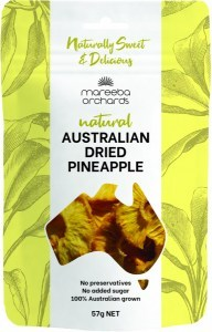 Mareeba Natural Australian Dried Pineapple 57g