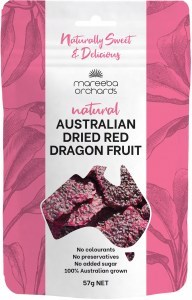 Mareeba Orchards Natural Australian Dried Red Dragon Fruit 57g