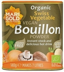 Marigold Organic Swiss Vegetable Bouillon Powder Reduced Salt (Grey) 140g