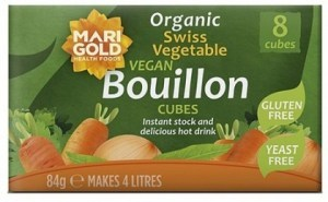 Marigold Swiss Vegetable Bouillon Cubes Yeast Free (Green) 84g