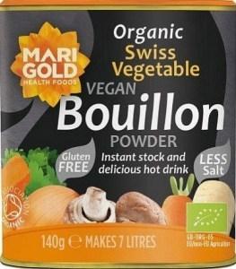 Marigold Organic Swiss Vegetable Bouillon Powder Reduced Salt (Grey) 140g