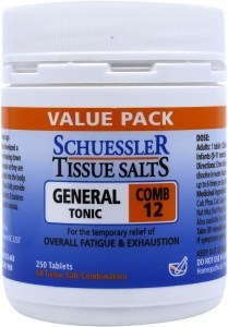 Schuessler Tissue Salts Comb 12 - General Tonic 250 Tabs