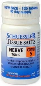 Schuessler Tissue Salts Comb 5 - Nerve Tonic 125 Tab