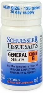Schuessler Tissue Salts Comb B - General Debility 125 Tabs