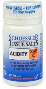 Schuessler Tissue Salts Comb C - Acidity 125 Tabs