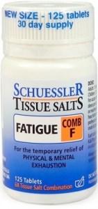 Schuessler Tissue Salts Comb F - Fatigue 125 Tabs
