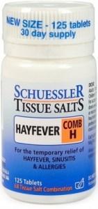 Schuessler Tissue Salts Comb H - Hayfever 125 Tabs