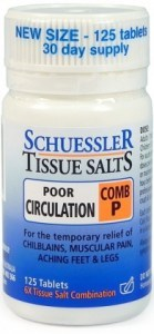 Schuessler Tissue Salts Comb P - Poor Circulation 125 Tab