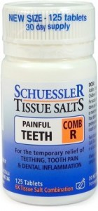 Schuessler Tissue Salts Comb R - Painful Teeth 125 Tab