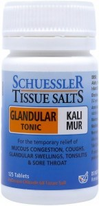 Schuessler Tissue Salts Kali Mur - Glandular Tonic 125 Tab