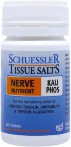 Schuessler Tissue Salts Kali Phos - Nerve Nutrient 125 Tab