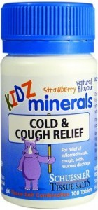 Kidz Minerals Cold & Cough Relief 100 Tabs