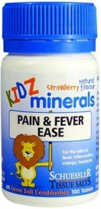 Kidz Minerals Pain & Fever Ease 100 Tabs