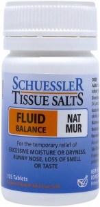 Schuessler Tissue Salts Nat Mur - Fluid Balance 125 Tab