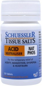 Schuessler Tissue Salts Nat Phos - Acid Neutraliser 125 Tab