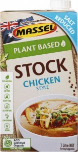 Massel Organic Liquid Stock Chicken Style Salt Reduced 1L