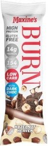 Maxine's Burn Bar Hazelnut Heaven High Protein  12x40g