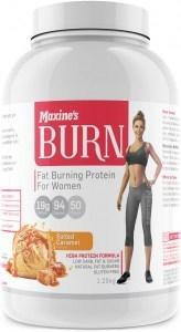 Maxine's Burn Protein Powder Salted Caramel G/F 1.25kg