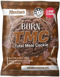 Maxine's Burn TMC Total Meal Cookie  Double Chocolate  12x50g
