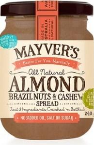 Mayvers Almond, Brazil & Cashew Butter Spread 240g