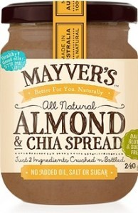 Mayvers Almond & Chia Spread  240g