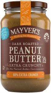 Mayvers Dark Roasted Extra Crunchy Peanut Butter G/F 375g