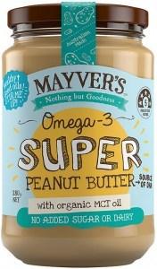 Mayvers Omega-3 Super Peanut Butter G/F 280g