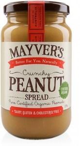 Mayvers Organic Crunchy Peanut Butter  375g